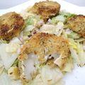 Salade croquante au fromage de chèvre chaud