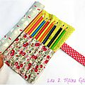trousse roulée girly avec caniches