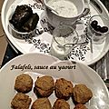 Falafels, sauce au yaourt
