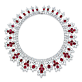 An important <b>ruby</b> and diamond necklace, by Harry Winston