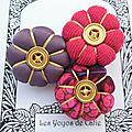 ♥ audelia ♥ broche textile hippie chic fleurs potirons - les yoyos de calie