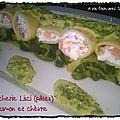 Paccherie lisci (pâtes) saumon et chèvre