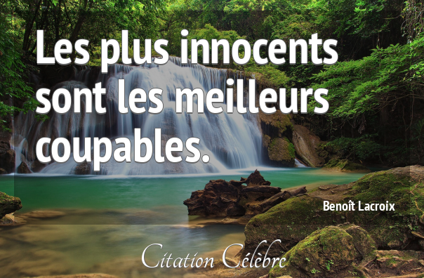 Citation Benoit Lacroix