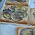 Tartelettes aubergine et feta