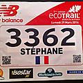 Eco trail paris 2014 - finisher 80 km !!!!!!