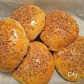 Buns ou pains à hamburger