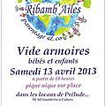 Le vide armoire des ribamb'ailes le 13 avril 2013... et atelier popote !