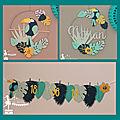 <b>Décoration</b> de baptême ou de <b>chambre</b> d'<b>enfant</b> thème tropical toucan