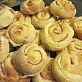 Spirales briochées jambon fromage