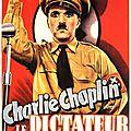 """"""" Le <b>Dictateur</b> """" Film réalisé par Charlie Chaplin en 1940"""
