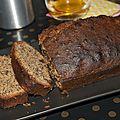 Cake aux noix, gingembre confit et zestes d'orange