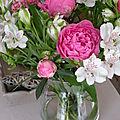 Roses et pivoines...