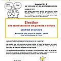 Elections des parents d'élèves le vendredi 14 octobre 2011 : c'est bientôt et les 2 parents votent !