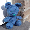 Crochet teddy bear simon