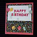 Cartes d'anniversaire en Pop'up