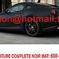 FERRARI 599 <b>GTB</b> adhesif carbon, covering carbon, moto covering adhesif Total covering noir mat, peinture covering noir mat, cov