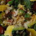 salade d'avocat crabe mangue
