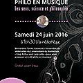 Goûter <b>philo</b> & <b>Philo</b> en musique