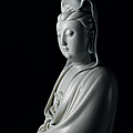 An exceptionally large and rare <b>Dehua</b> figure of Guanyin, Ming dynasty, 16th-early 17th century, He Chaozong impressed seal mark