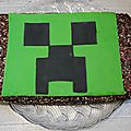 Gâteau design minecraft