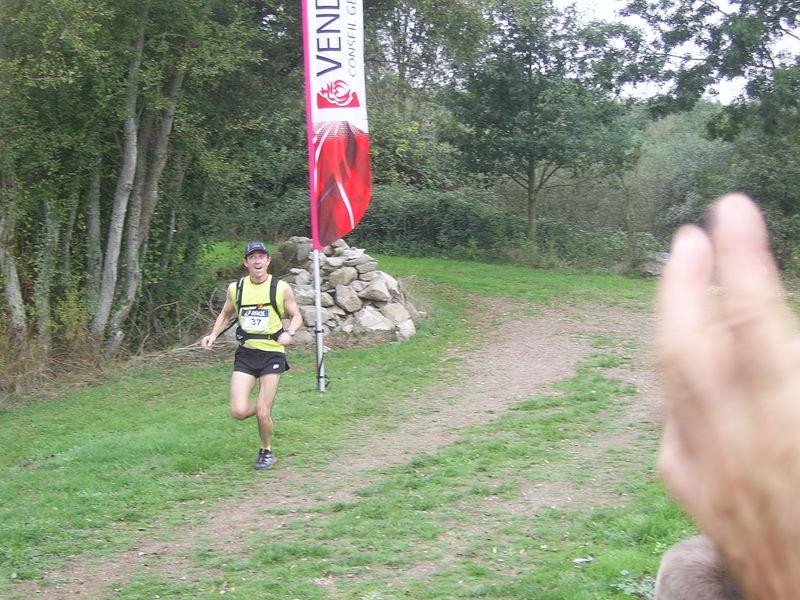 Nico à l'arrivée du 26km