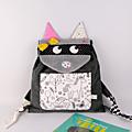 Sac à dos enfant personnalisable prénom raton laveur poche tissu à colorier sac bébé crèche école maternelle raccoon toddler backpack personnalized name
