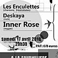 Affiche pour un concert de soutien en faveur du festival kiss'balade - 2010 -