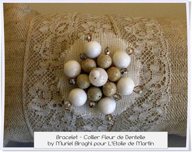Bracelet Collier Fleur de Dentelle