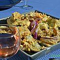 Tempura d'oignons rouges et basilic, accord avec un rosé de provence
