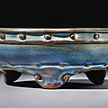 A rare lavender-blue 'Jun' narcissus bowl, <b>Early</b> <b>Ming</b> <b>dynasty</b> (<b>1368</b>-<b>1644</b>)