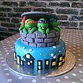 Tortues ninjas cake