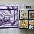 Atelier Carte à tamponnage multiple et Carte twist à grelots