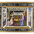 A Florentine early 18th century pietre dure panel, The <b>Annunciation</b>, possibly by Baccio Cappelli, of the Grand Ducal Workshops,