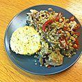 Röstis de salsifis au quinoa et aux pleurotes