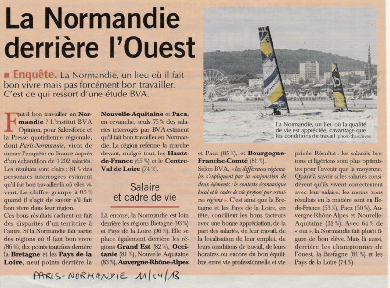 CONFIRMATION: en terme d'image régionale, la Normandie est derrière… l'Ouest France!