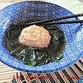 Chishinjo no suimono, autrement dit : boulettes de crevettes