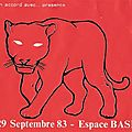 The Stranglers - Jeudi 29 Septembre 1983 - <b>Espace</b> BASF Paris