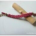 Bracelet tressé fuchsia