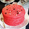 Baghrir ou crêpes mille trous à la framboise et chocolat