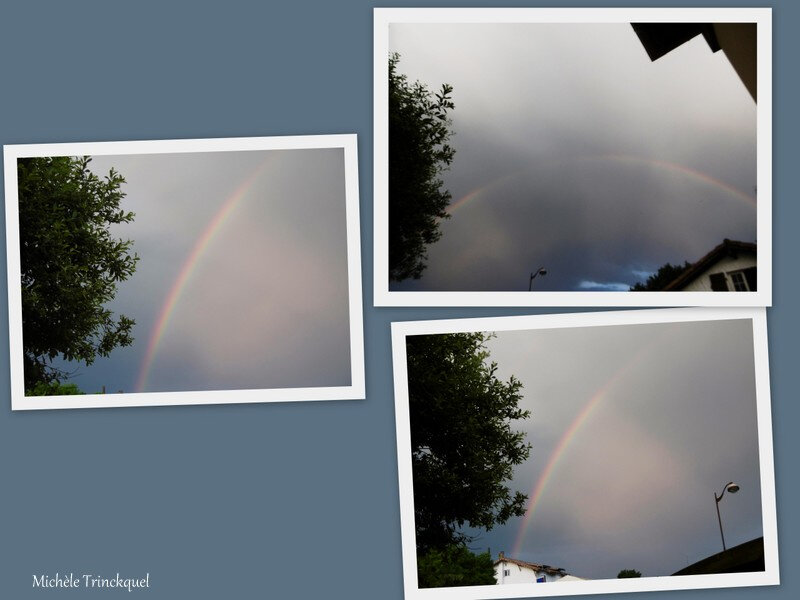 Ciel d'orage et Arc en ciel 020618