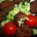 Croquettes de poulet et de courgettes.