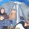 Bel ensemble de co-locataire camping