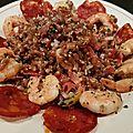Salade d'épeautre aux crevettes