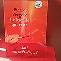 Le Monde qui reste - Pierre Vergely