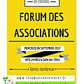 Forum des Associations des Adrets mercredi prochain !