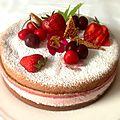 Bavarois fraise cerise carambar