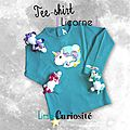 Tee-shirt [ Licorne ] Mode Textile Enfant