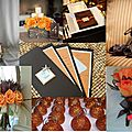 inspiration board marron-orange