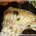 Merlu grillé au beurre de basilic