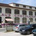 la chocolaterie KLAUS à Morteau, où nous avons acheté un petit stock de chocolat, après l'avoir goûté bien sûr !!!!!!!!!!!
